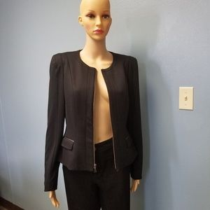 Tahari Black Lined Blazer with Shoulder Pads Sz6